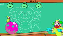 Clown ball math le clown acrobate fait des maths